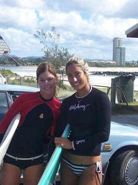 We surfed together a lot. Here at Currumbin Alley.