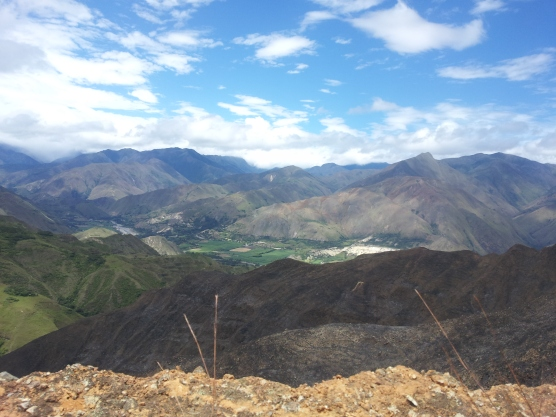 View from the top.Vilcabamba