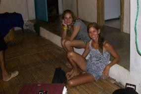 Fenja and I at Hostal Puerto Engabao