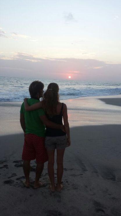 romantic sunset ha!