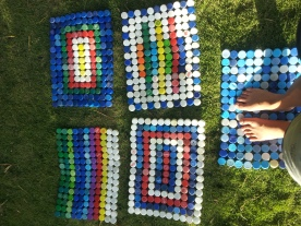 Mats made with bottecaps from the BVI