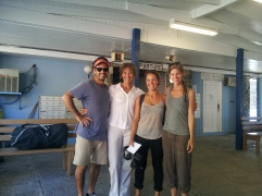 Mick, Majel, Elke and I: Saying good-bye to Elke at the ferry