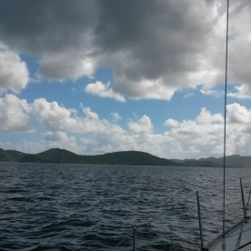 Sailing back to Tortola