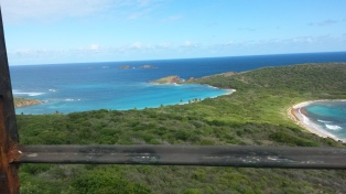 Vie from the lighthouse in Culebrita