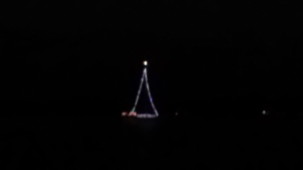 Boat light as a Christmas tree