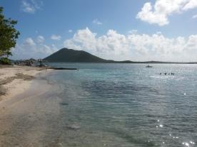 The beach at Marina Cay