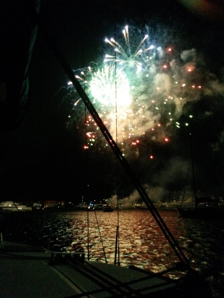 Fireworks at the lagoon