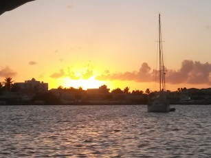 Sunset at Simpson Bay Lagoon