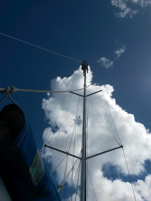Mick up the mast