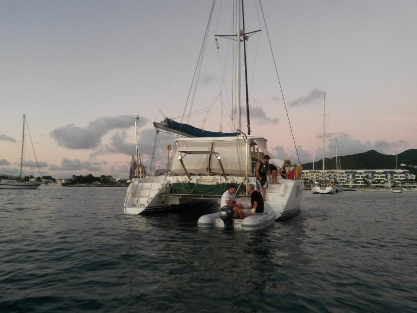 At Del and Gary's catamaran