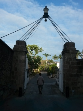 Going into Nelson's Dockyard