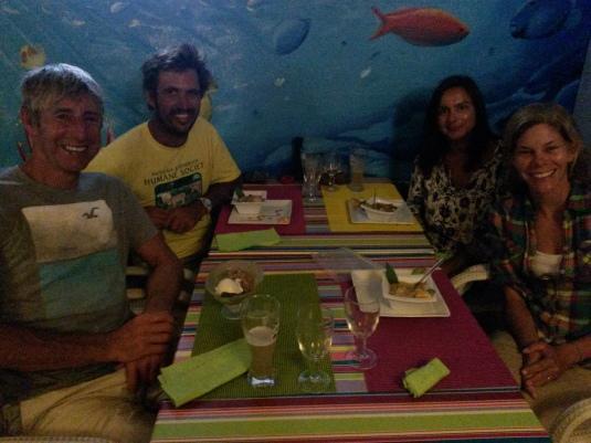 With Keith and Samina
