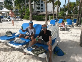 Mick and Paul enjoying the day at the resort