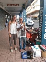 Hermano Juan, a fellow ecuadorian on the streets of Colon