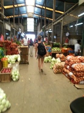 buying fresh fruit and veggies