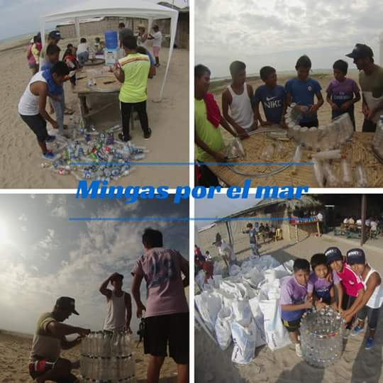 Creating a rubbish bin out of plastic bottles