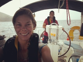 Returning back to port after being hit by squalls