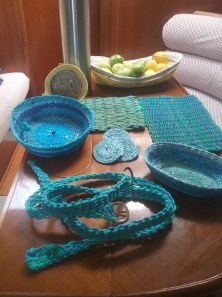 baskets, belts and coasters
